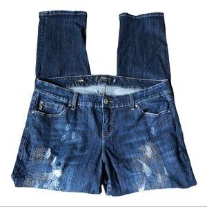 Torrid Premium Distressed Boyfriend Jeans Size 18
